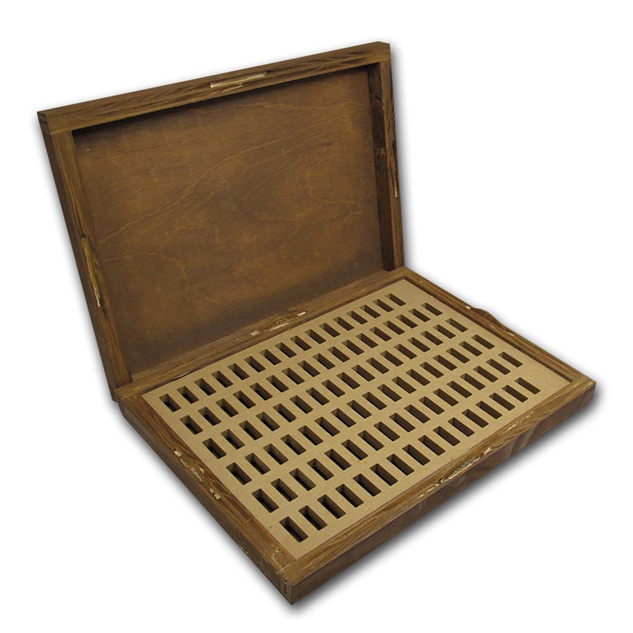 Geiger Edelmetalle Wood Storage Box for 100 gram Silver Bars