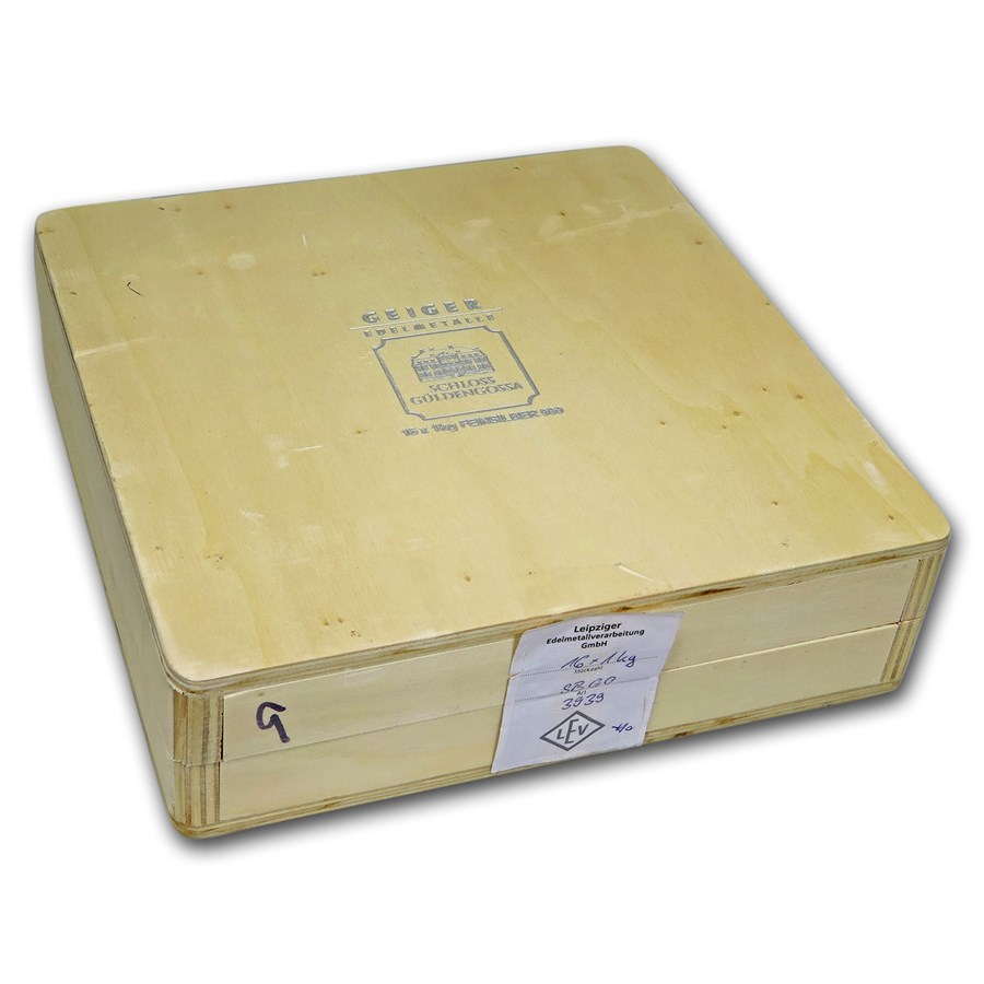 Geiger Wood Storage Box - 1 kilo Silver Bars (Original Series)