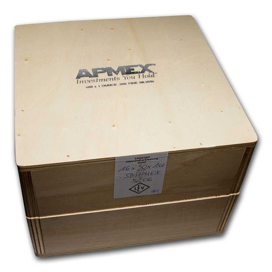 Geiger Wood Storage Box - 1 oz Silver Bars APMEX Branded (Empty)