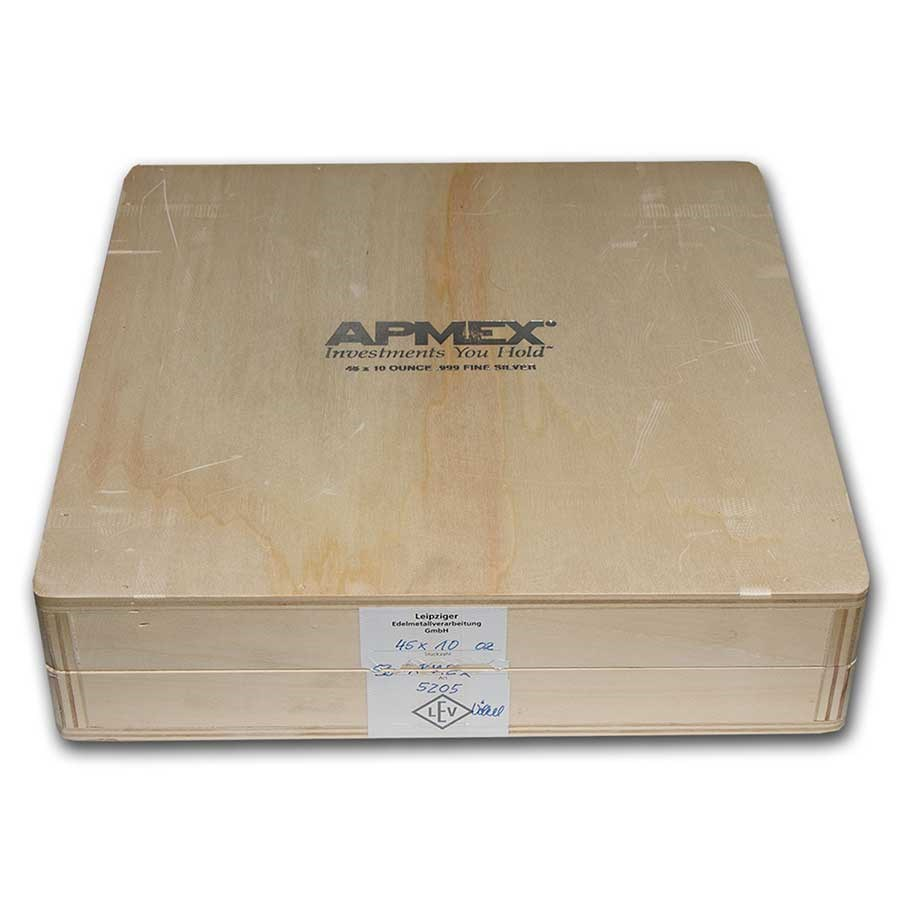 Geiger Wood Storage Box -10 oz Silver APMEX Branded Bars (Empty)