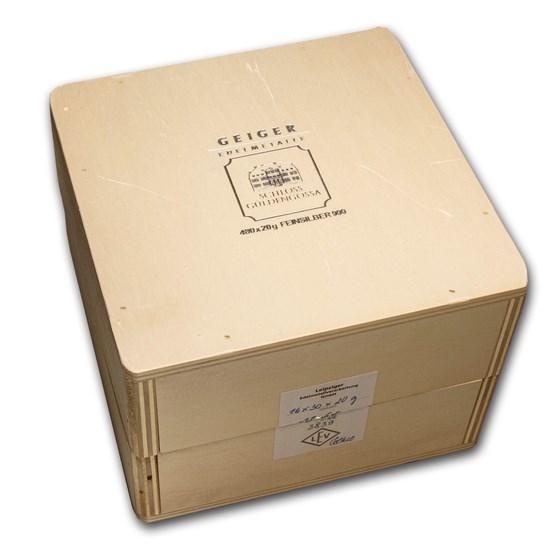 Geiger Wood Storage Box - 20 gram Silver Bars (Original Series)