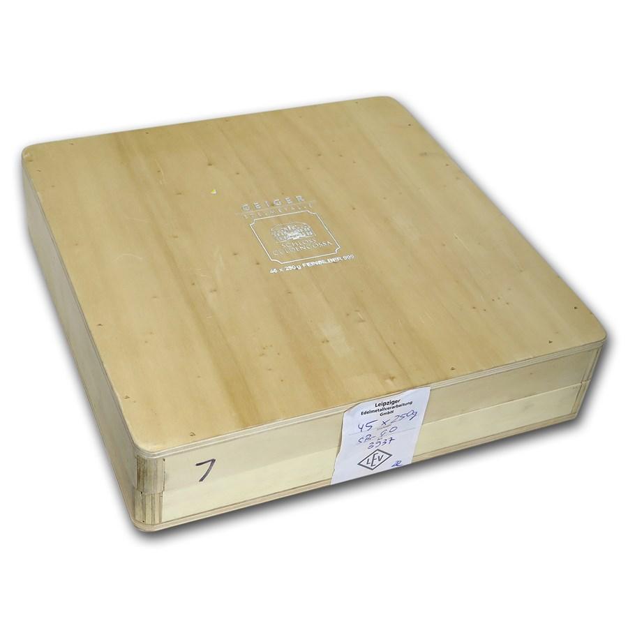 Geiger Wood Storage Box - 250 gram Silver Bars (Original Series)
