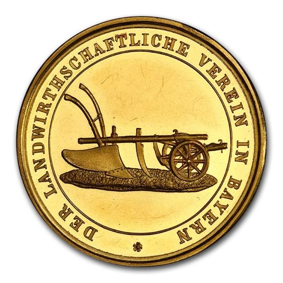 German Bavaria Gold Agricultural Medal (1864-1886) SP-63 PCGS