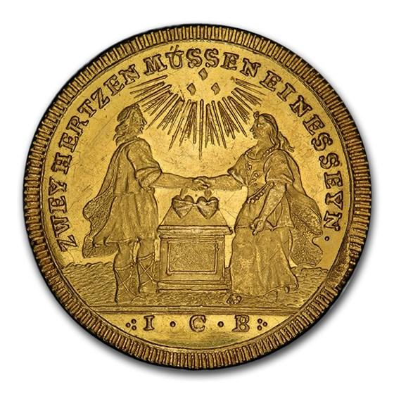 German Regensburg Gold Medal 2 Ducats (1742-1763) MS-63 PCGS