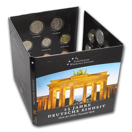 Germany 25th Anniversary Fall of the Berlin Wall 16-Coin Set BU