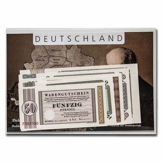 Germany Bethel Money 6-Note Set Unc