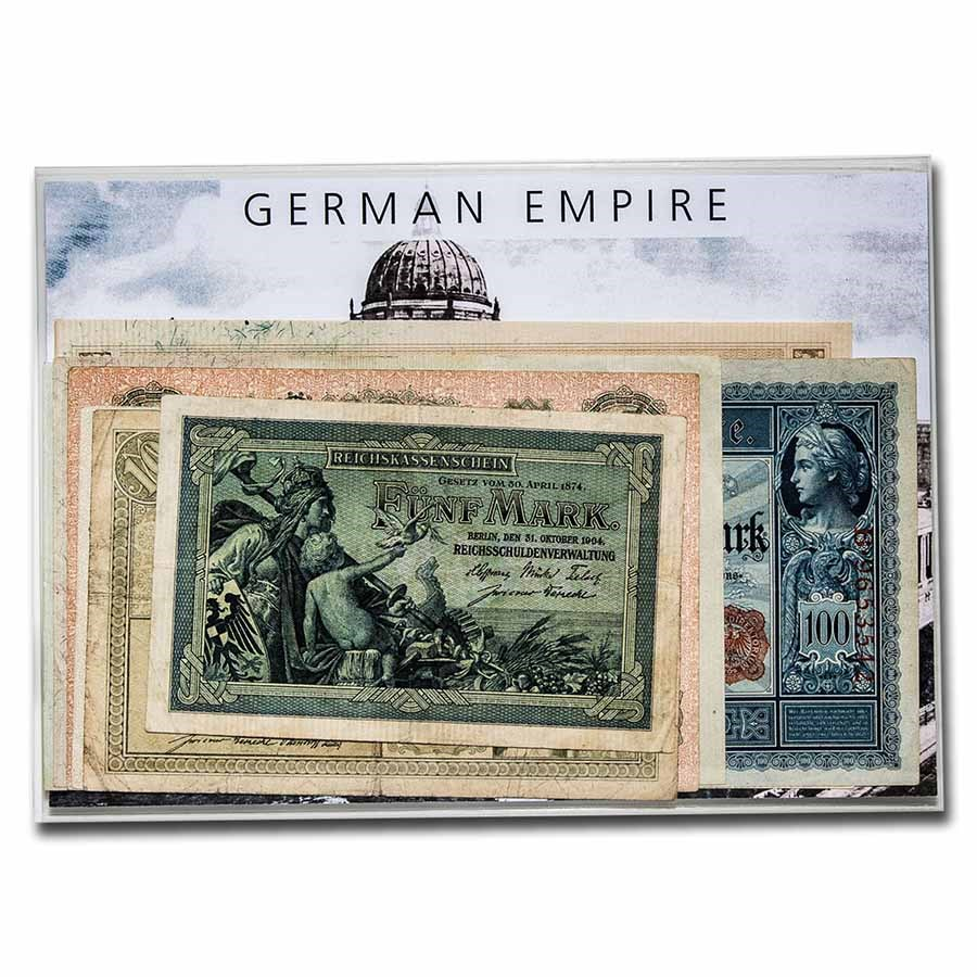 Germany Currency of the German Empire 5-1000 Mark 7-Banknote Set