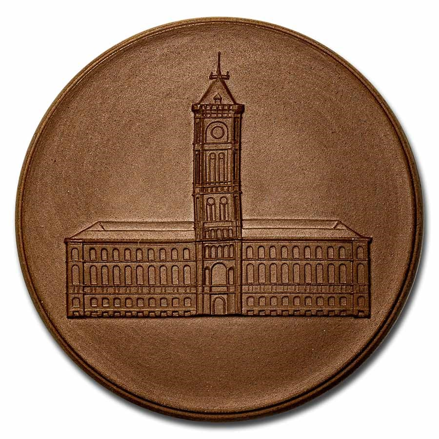 Germany GDR Porcelain Medal Unc