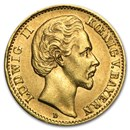 Germany Gold 10 Mark Bavaria Ludwig II (1872-1881) Avg Circ