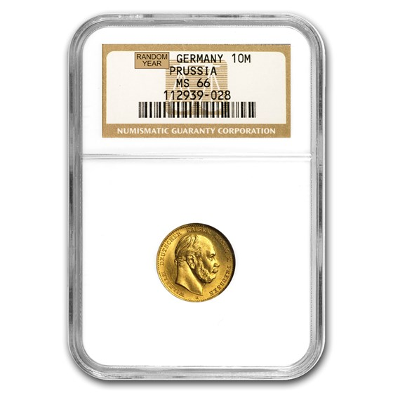 Germany Gold 10 Marks Prussia (1872-1873) MS-66 NGC
