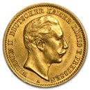 Germany Gold 10 Marks Prussia Wilhelm II (1890-1912) Avg Circ