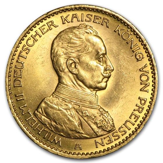 Germany Gold 20 Marks Prussia Jubilee Bust (1913-1914) BU