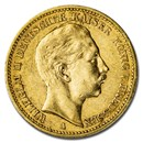 Germany Gold 20 Marks Prussia Wilhelm II (1890-1913) Avg Circ