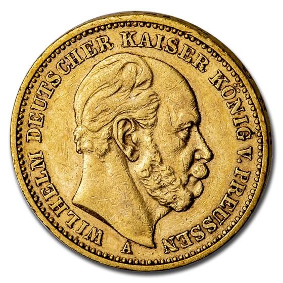 Germany Gold 20 Marks (Random) Avg Circ
