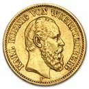 Germany Gold 20 Marks Wuerttemberg Karl (1872-1873) Avg Circ
