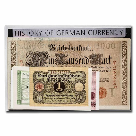 Germany History of German Currency 5-Banknote Set
