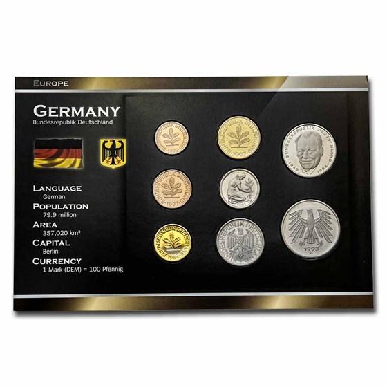 Germany Pre-Euro 8-Coin Set BU
