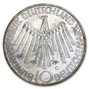 Germany Silver 10 Marks Commems (1972-2001)