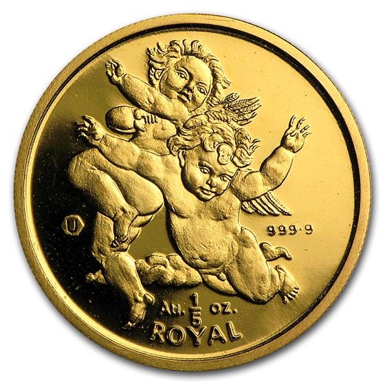 Gibraltar 1/5 oz Gold Royal BU/Proof (Random year)