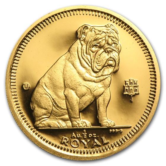 Gibraltar Gold 1/2 oz Royal Dog BU/Proof (Random)