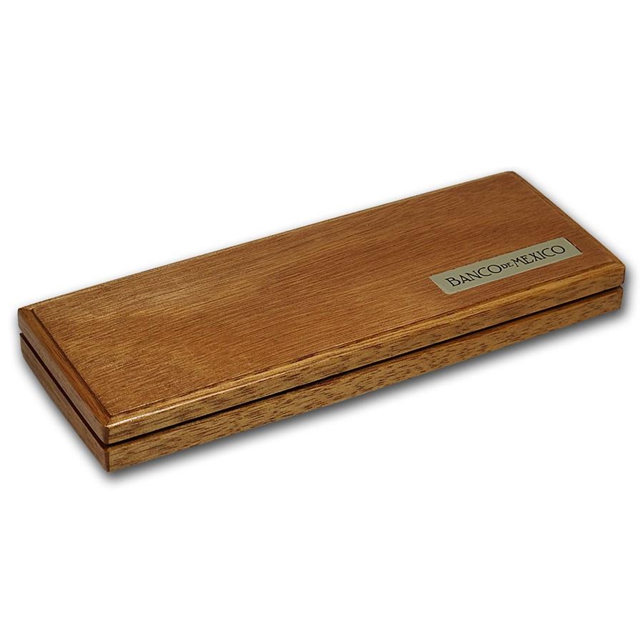 Gold Libertad 5-Coin Wood Presentation Box Version 2