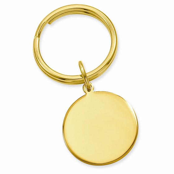 Gold-plated Polished Round Key Ring