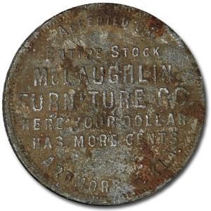 Good For $1.00 Token McLaughlin Ardmore, Oklahoma AU Detail