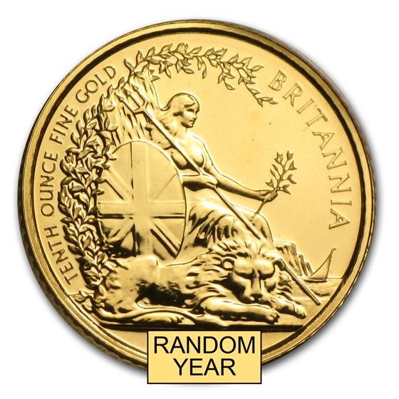 Great Britain 1/10 oz Gold Britannia BU/Proof (Random Year)