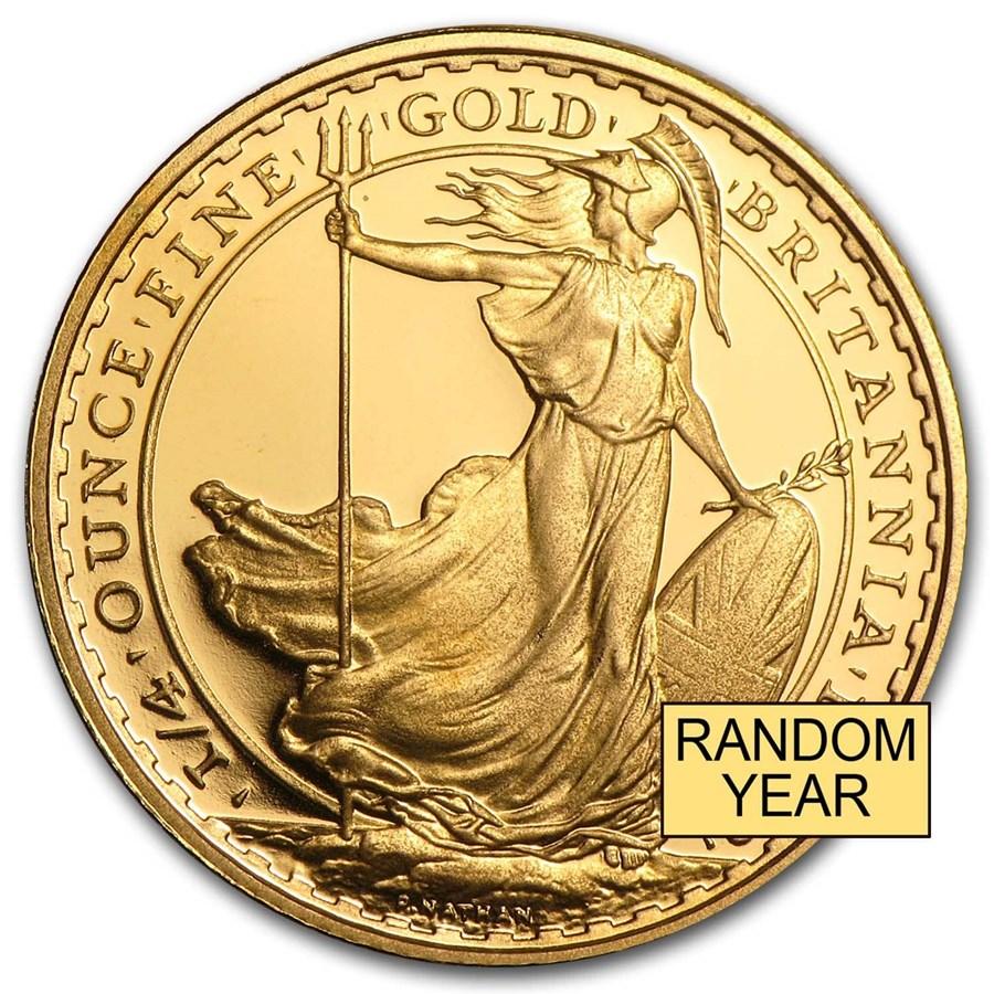 Great Britain 1/4 oz Gold Britannia BU/Proof (Random Year)