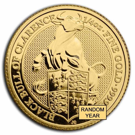 Great Britain 1/4 oz Gold Queen's Beasts Proof (Random Year)