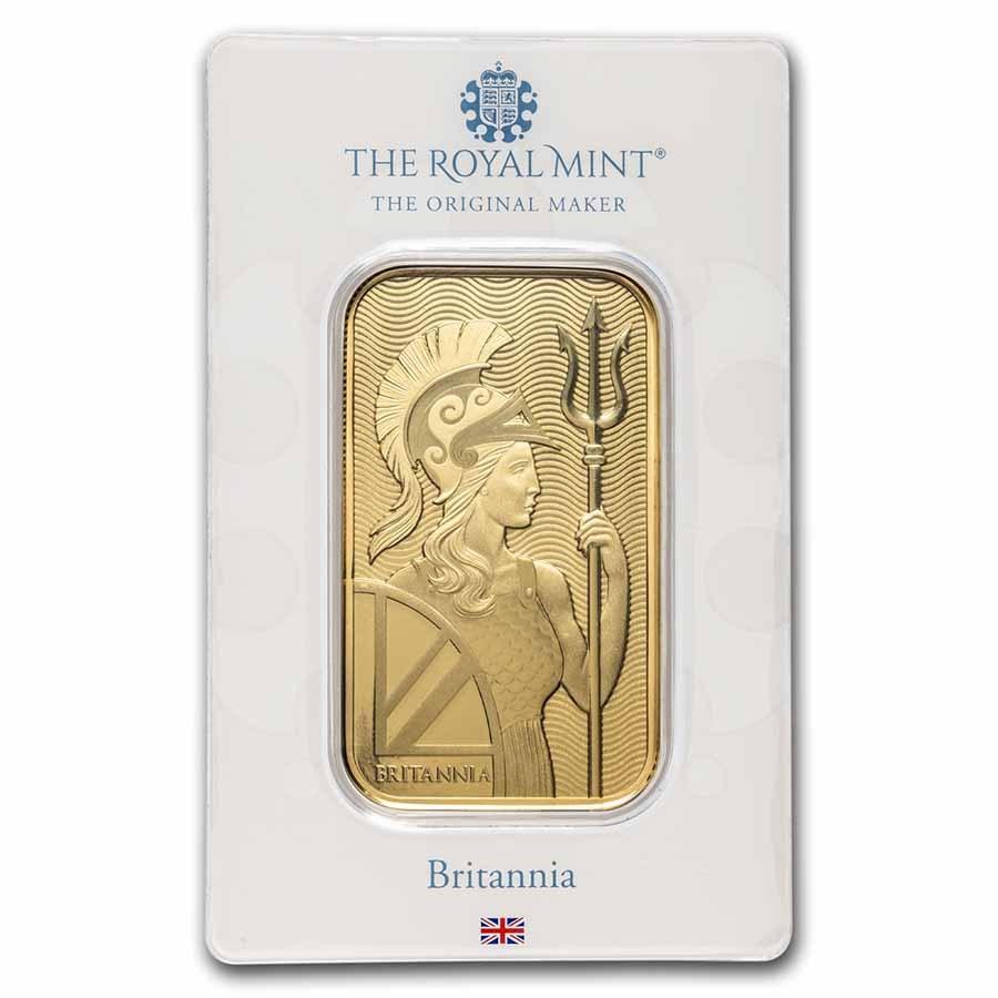 Great Britain 1 oz Gold Bar - The Royal Mint Britannia (In Assay)