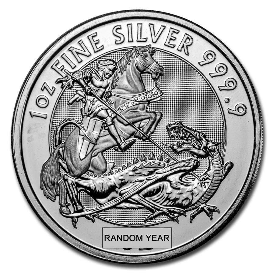 Great Britain 1 oz Silver Valiant (Random Year, Abrasions)