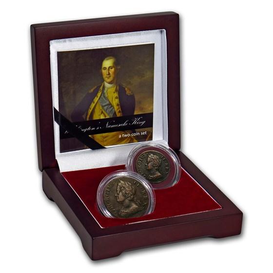 Great Britain 2-Coin Set George II: Washington's Namesake King