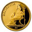 Great Britain Gold 1/20 oz Britannia BU/Proof (Random Year)