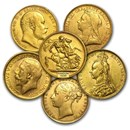 Great Britain Gold Sovereign Coins Avg Circ (Random)
