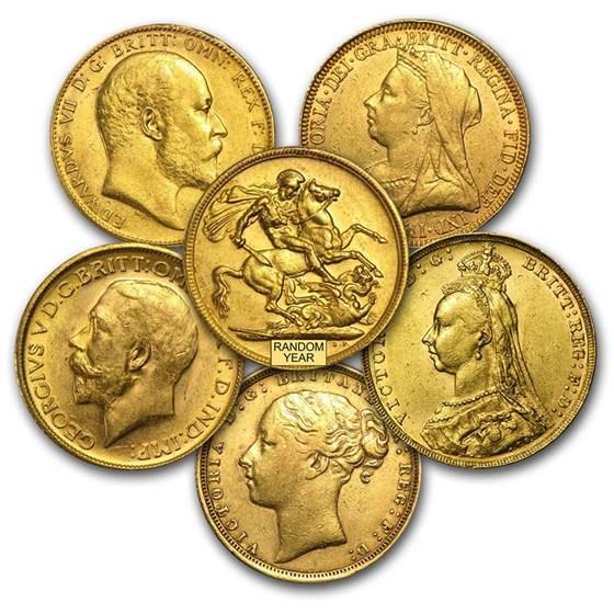 Great Britain Gold Sovereign Coins (Random) Avg Circ