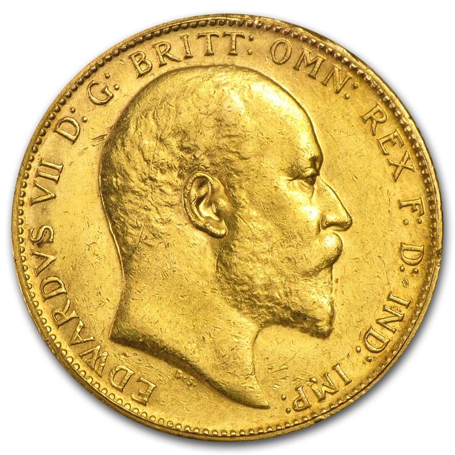 Great Britain Gold Sovereign Edward VII (1902-1910) Avg Circ