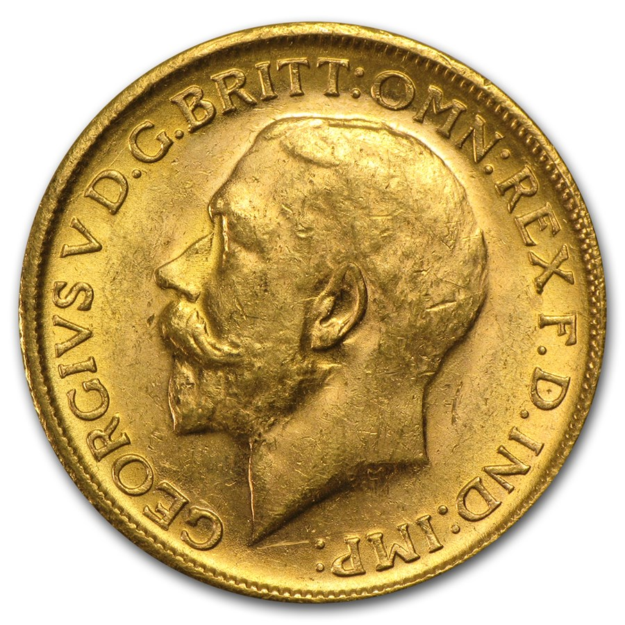 Great Britain Gold Sovereign George V (1911-1925) Avg Circ