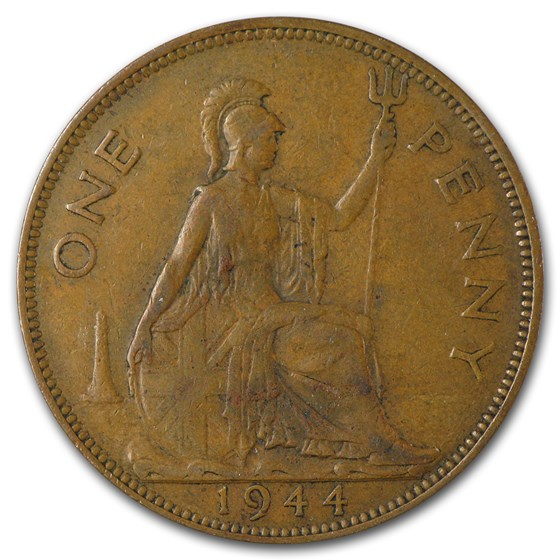 Great Britain Large Penny Average Circ (Random Dates)