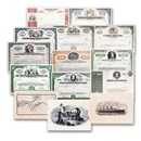 Great Corporations of the U.S. Collection - 11 Stocks + 3 Prints