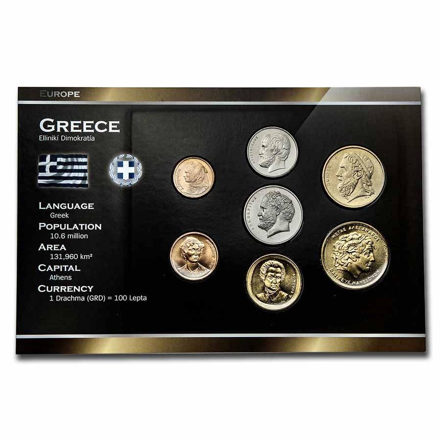 Greece Pre-Euro 7-Coin Set BU