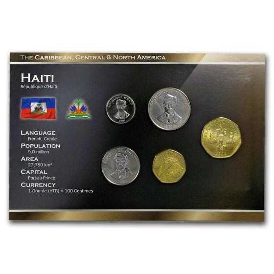 Haiti 5 Cents - 5 Gourdes 5-Coin Set BU