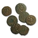 Hephthalites (White Huns) AE Drachm (600 AD) XF-AU