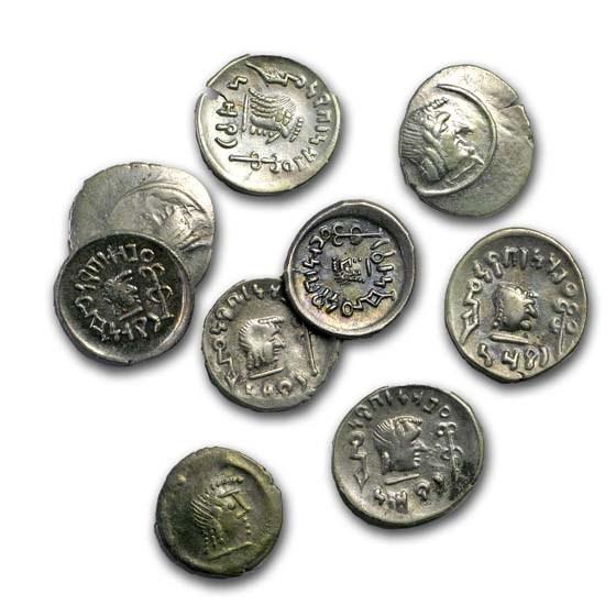 Himyarites AR Silver Denarius (c. 1st century BC) VF