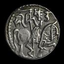 Hindu Shahi Dynasty Silver AR Drachm (950 AD) XF-AU