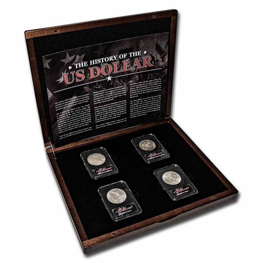 History of the United States Dollar 4-Coin Presentation Set