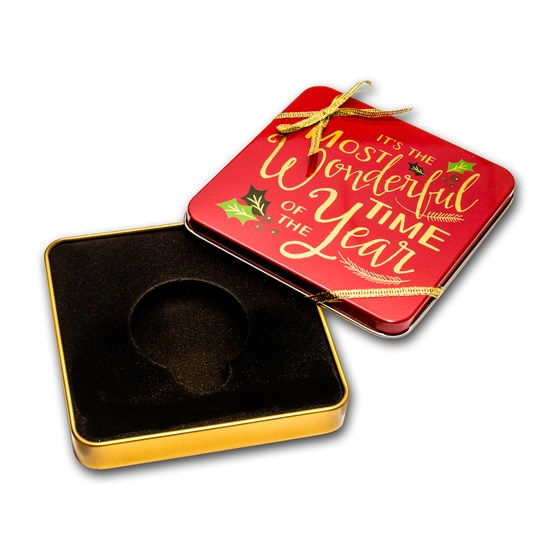 Holiday Tin Gift Box - Most Wonderful Time (Single Coin)