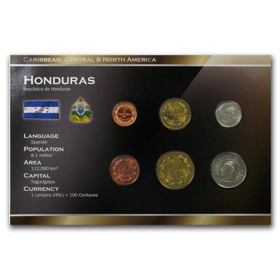 Honduras 1 - 50 Centavos 6-Coin Set BU