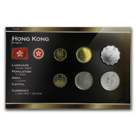 Hong Kong 10 Cents - 5 Dollars 6-Coin Set BU