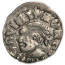 Hungary Denar Silver Ludwig I VF (1342-1382)